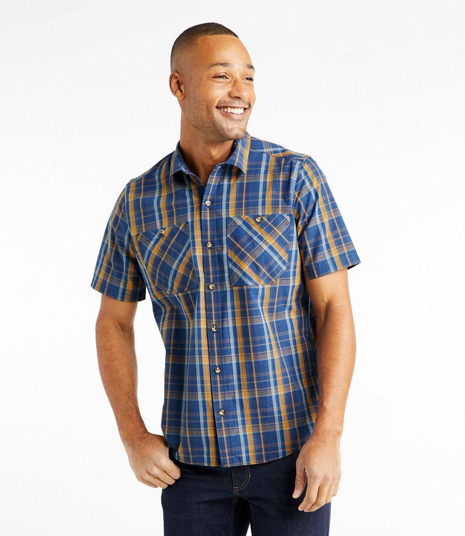 Men's Otter Cliff Shirt, Short-Sleeve Plaid