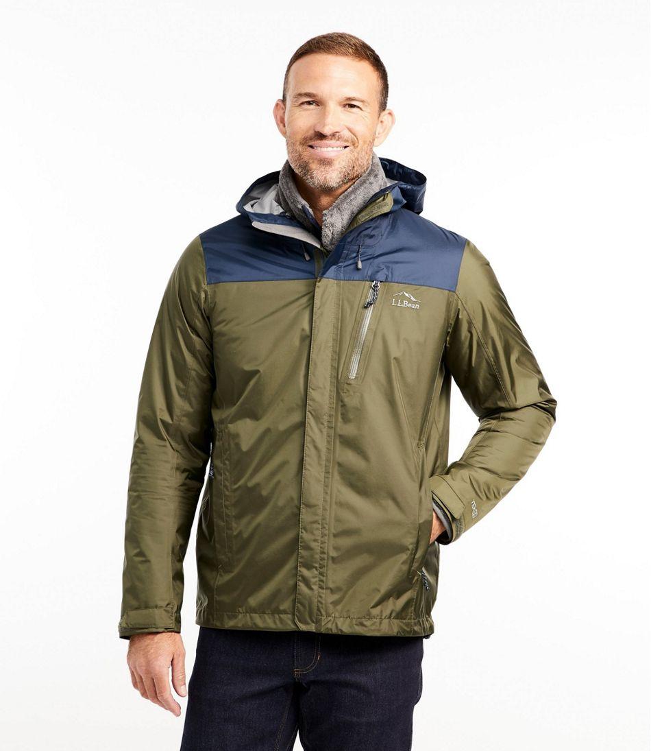 Men's Trail Model Rain Jacket, Colorblock