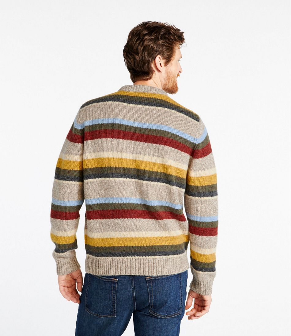 Classic Ragg Wool Sweater, Crewneck, Stripe