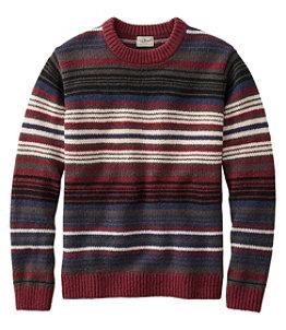 Men's Bean's Classic Ragg Wool Sweater, Crewneck, Stripe Regular
