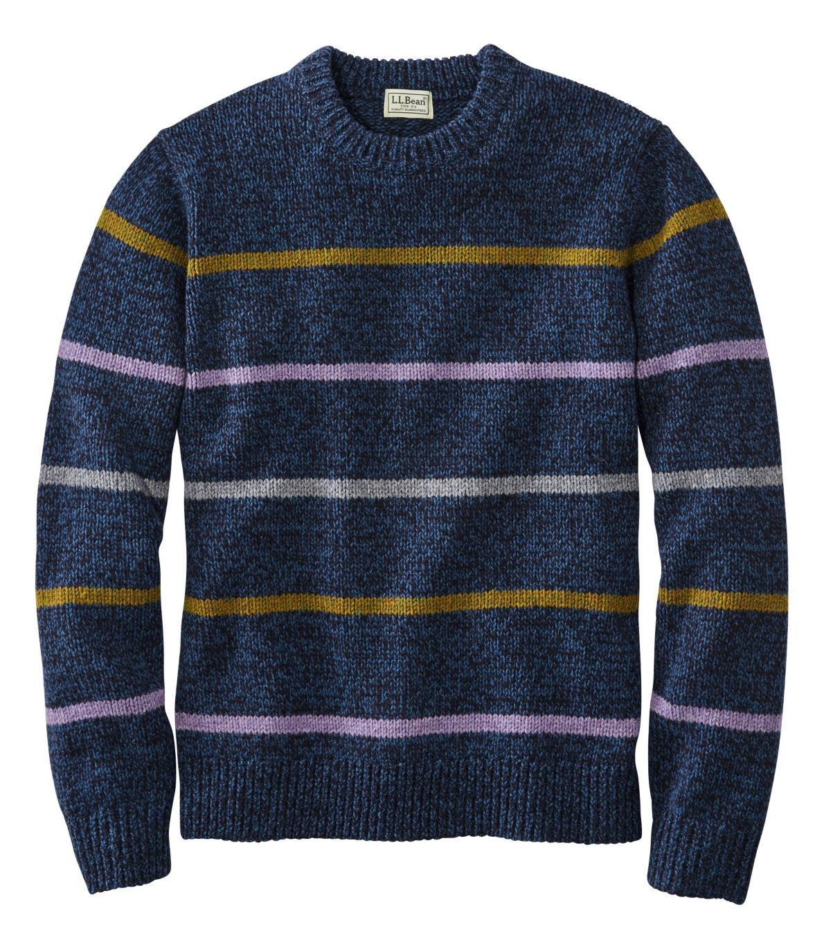 Men's Bean's Classic Ragg Wool Sweater, Crewneck, Stripe