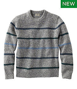 Men's Bean's Classic Ragg Wool Sweater, Crewneck, Stripe Regular
