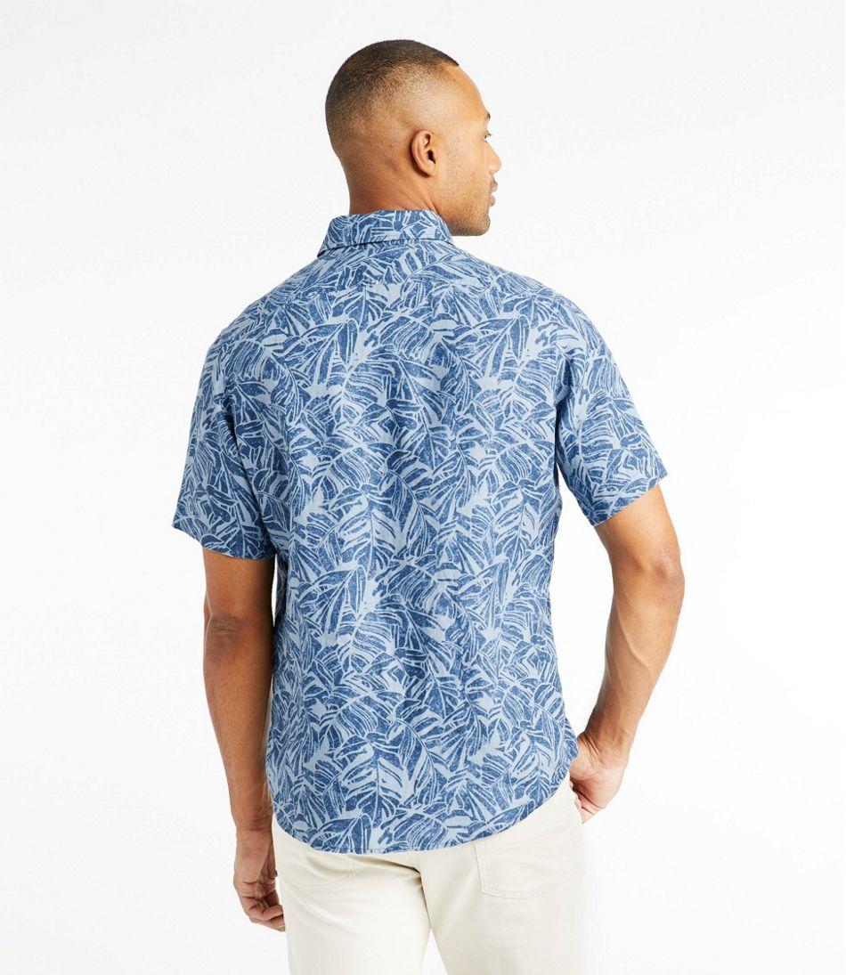 Men's L.L.Bean Linen Shirt, Short-Sleeve, Print