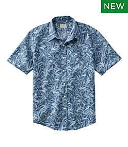 Men's L.L.Bean Linen Shirt, Short-Sleeve, Print