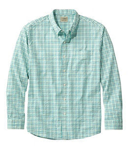 Men's Organic Cotton Seersucker Shirt, Long-Sleeve, Traditional Fit, Plaid