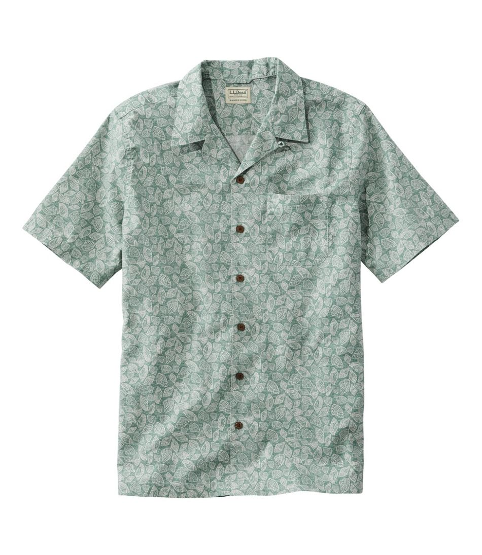 Men's Tropics Shirt Short Sleeve, Slightly Fitted Print