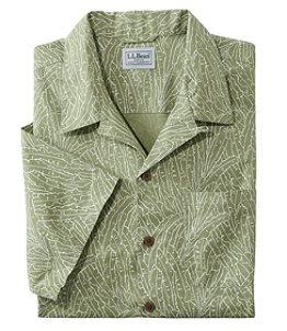 Men's Tropics Shirt Short Sleeve, Slightly Fitted Print, Regular