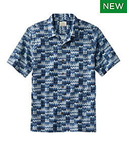 Men's Tropics Shirt Short Sleeve, Slightly Fitted Print, Regular