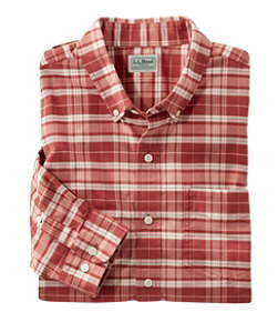 Men's Comfort Stretch Oxford Shirt, Traditional Fit, Plaid