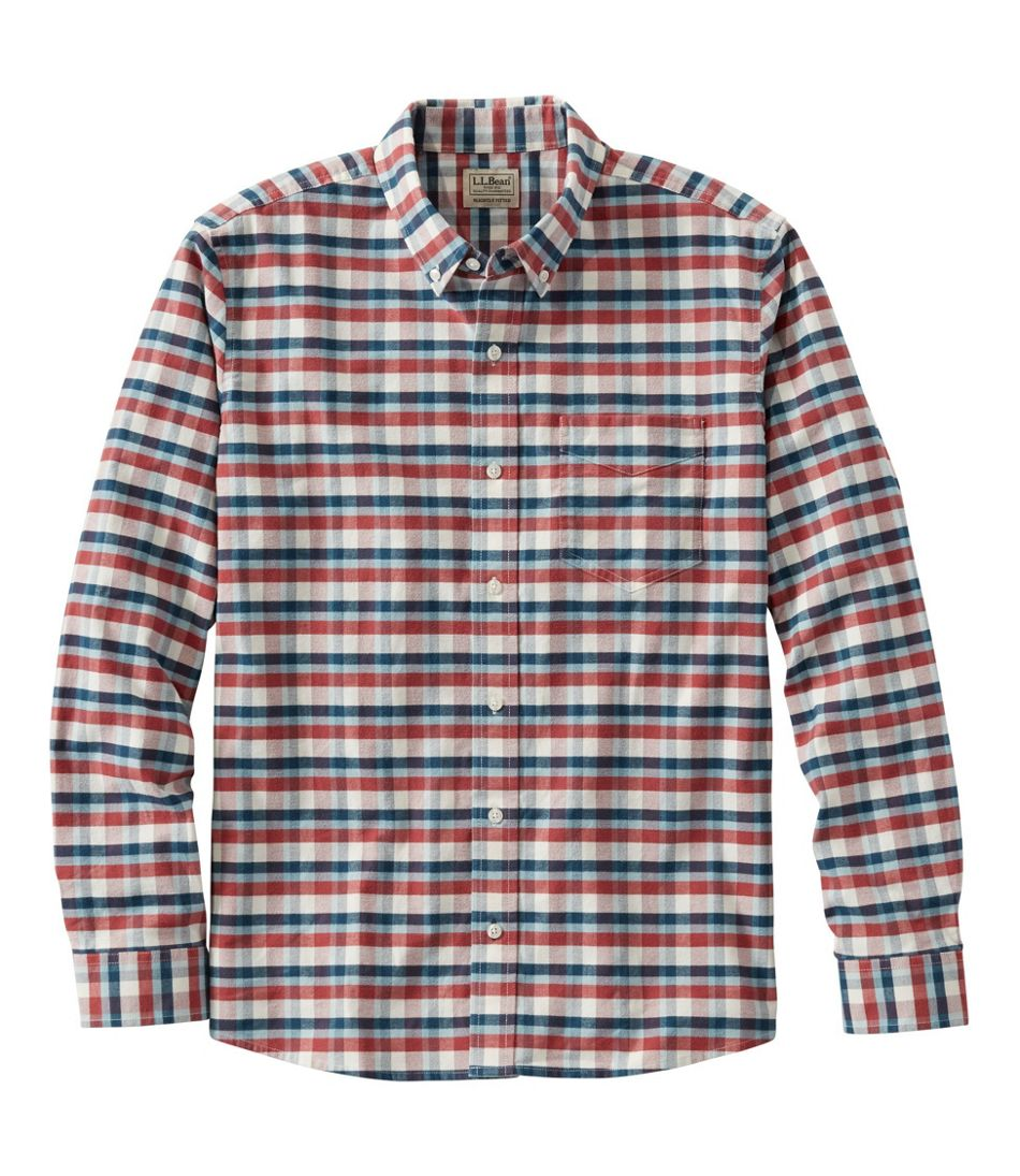 Men's Comfort Stretch Oxford Shirt, Slightly Fitted, Plaid