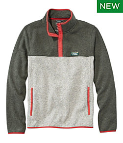 L.L.Bean Sweater Fleece Pullover, Colorblock