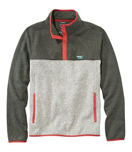 Men's L.L.Bean Sweater Fleece Pullover, Colorblock