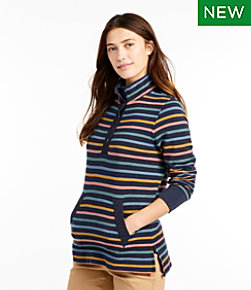 Women's Rocky Coast Sweatshirt, Snap Henley Stripe