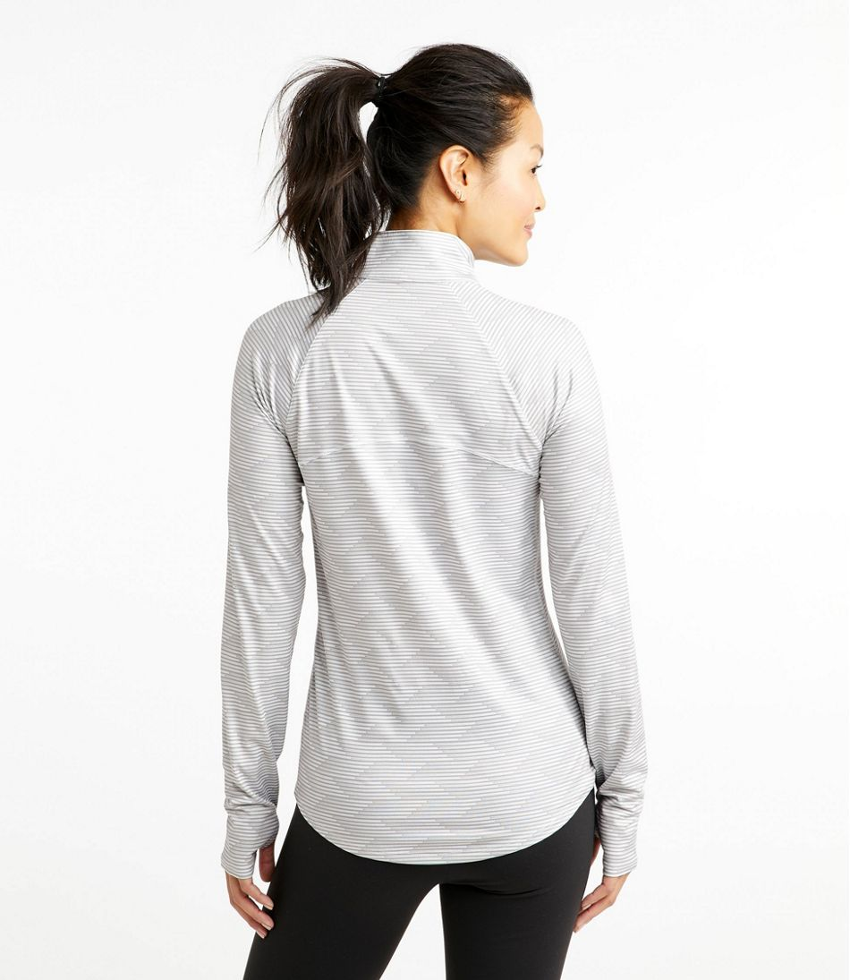 Women's Multisport Tech Tee, Quarter-Zip Long-Sleeve Print