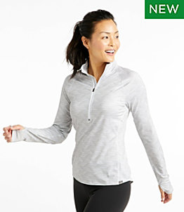 Women's Multisport Tech Tee, Quarter-Zip Long-Sleeve Print