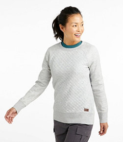 Women's Quilted Sweatshirt, Crewneck