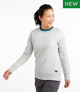 Women's Quilted Sweatshirt, Crewneck
