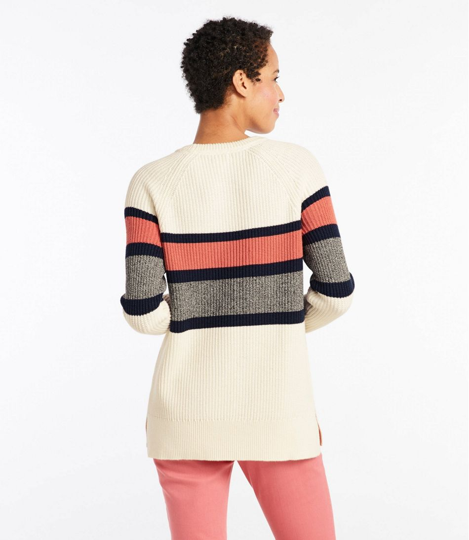 Coastal Cotton Sweater, Pullover Stripe