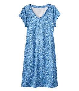 Women's Short-Sleeve Fitness Dress, Print
