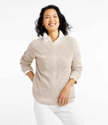 Women's Linen-Blend Sweater, Pullover