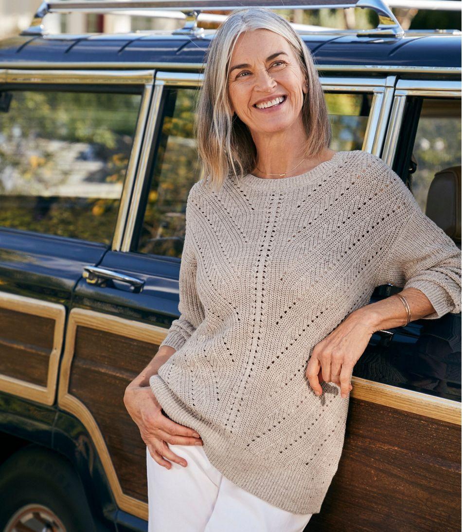 Women's Linen-Blend Sweater, Pullover
