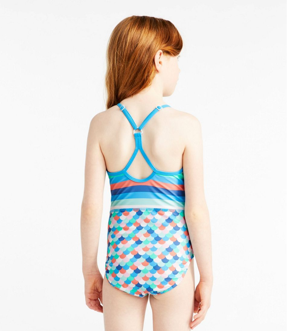 Girls' BeanSport Swimsuit, One-Piece, Print
