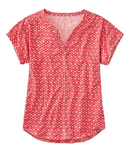 Women's Streamside Tee, Short-Sleeve Splitneck, Print