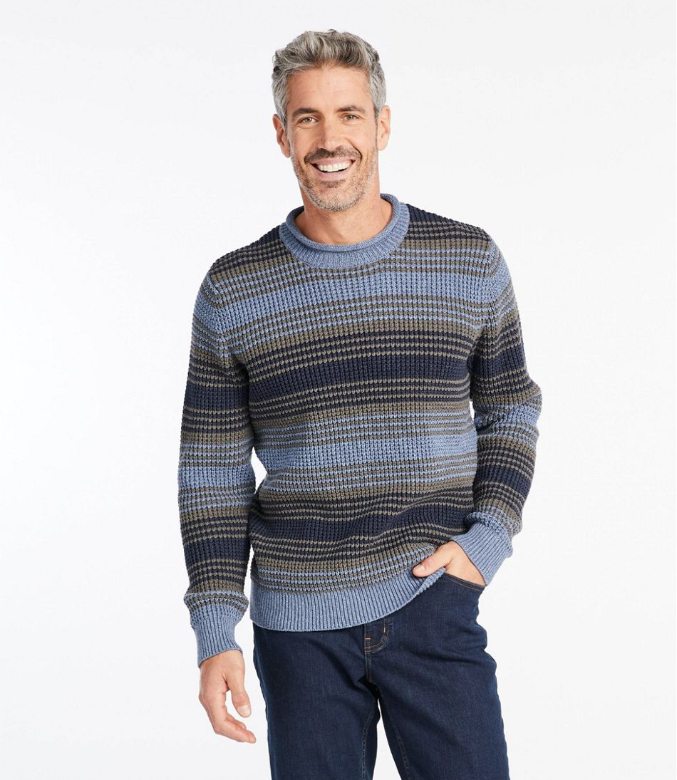 Organic Cotton Sweater, Rollneck Crew, Stripe
