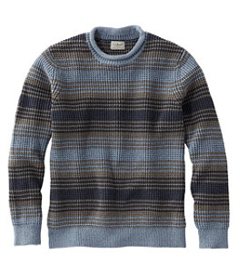 Men's Bean's Organic Cotton Rollneck Crew Sweater, Stripe Regular