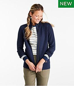 Women's Quilted Full-Zip Sweatshirt