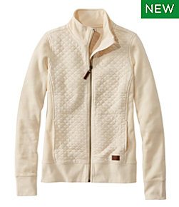 Women's Quilted Full-Zip Sweatshirt