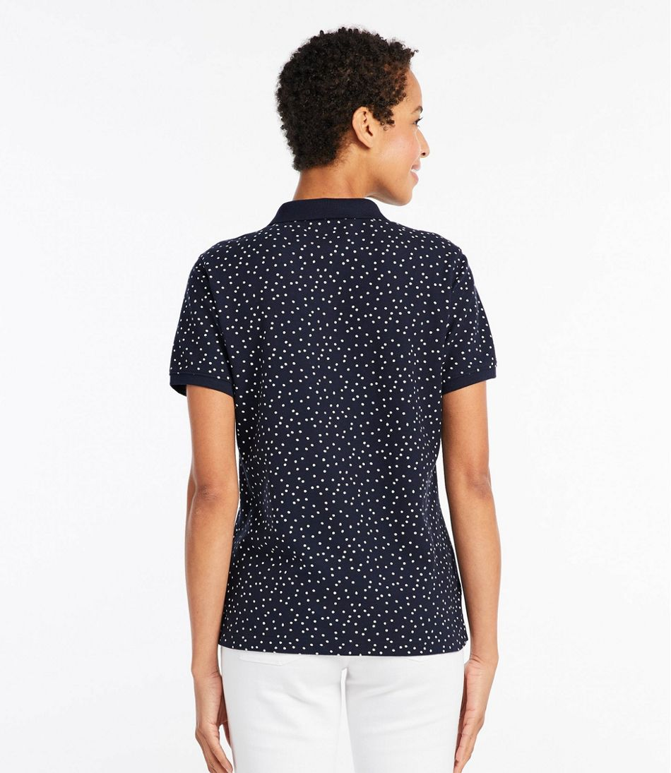 Premium Double L Polo, Short-Sleeve Relaxed Fit Print