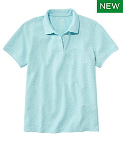 Women's Premium Double L Polo Short-Sleeve Relaxed Fit Print Regular