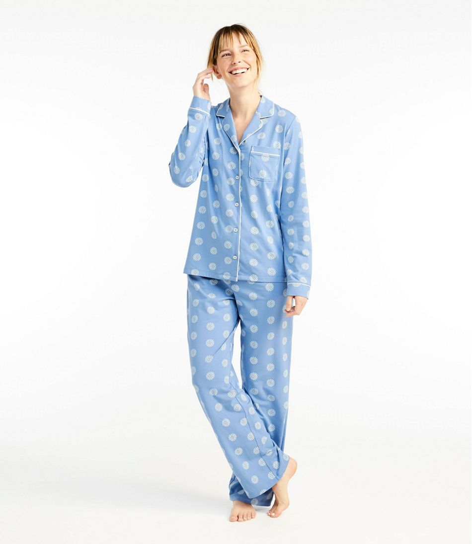 Organic Supersoft Shrink-Free Pajama Set, Button-Front