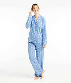 Women's Organic Supersoft Shrink-Free Pajama Set, Button-Front