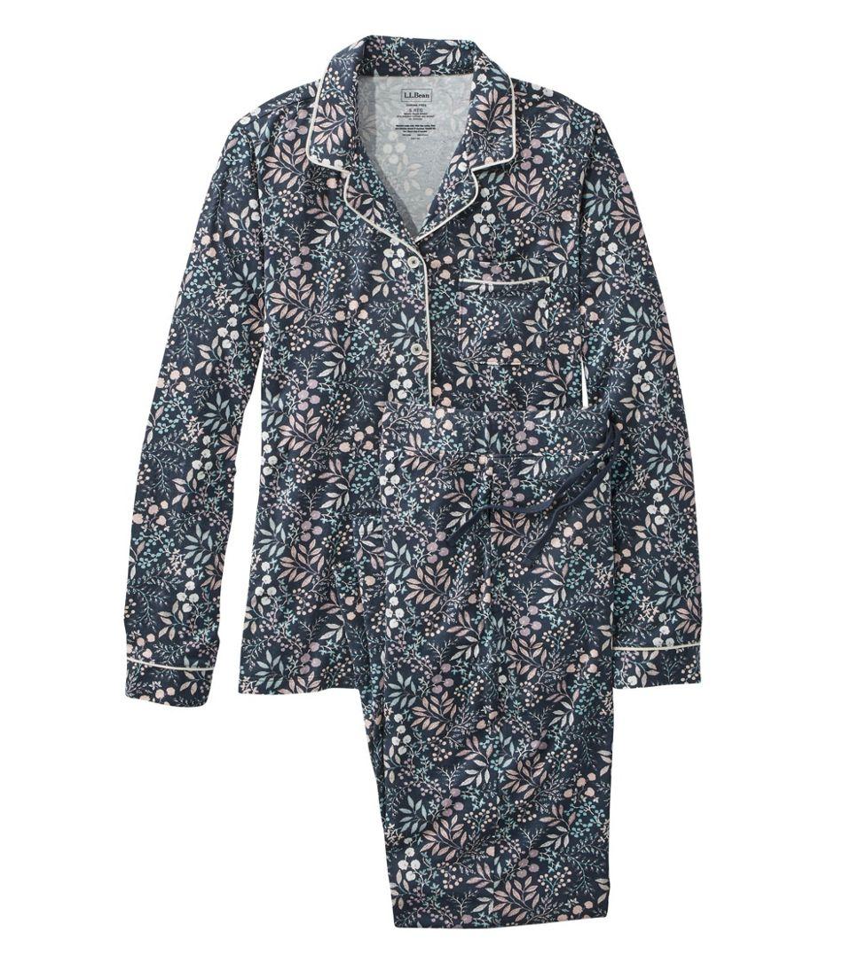 Women's Super-Soft Shrink-Free Pajama Set, Button-Front