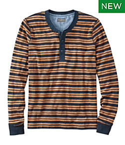 Men's Signature Henley, Long-Sleeve, Stripe Regular