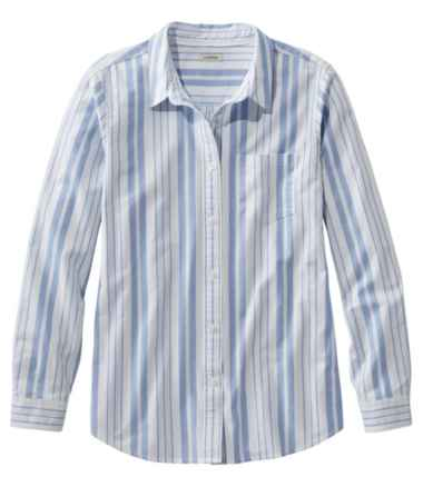 Lakewashed Organic Cotton Oxford Shirt, Relaxed Stripe