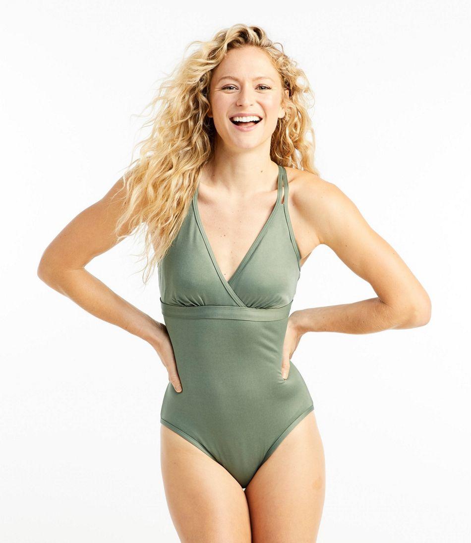 Women's ReNew Swimwear, V-Neck Tanksuit