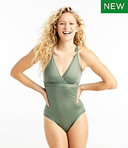 Women's ReNew Swimwear, V-Neck Tanksuit