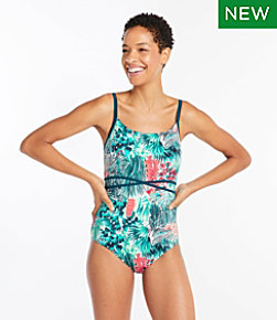 Salt Water Essentials Swimwear, Scoopneck Tanksuit, Print