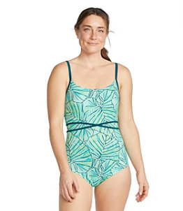 Women's Saltwater Essentials Swimwear, Scoopneck Tanksuit, Print