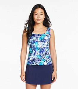 Women's BeanSport Swimwear, Scoopneck Tankini Top, Print