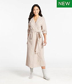 Women's Ultrasoft Sweatshirt Robe, Wrap Stripe