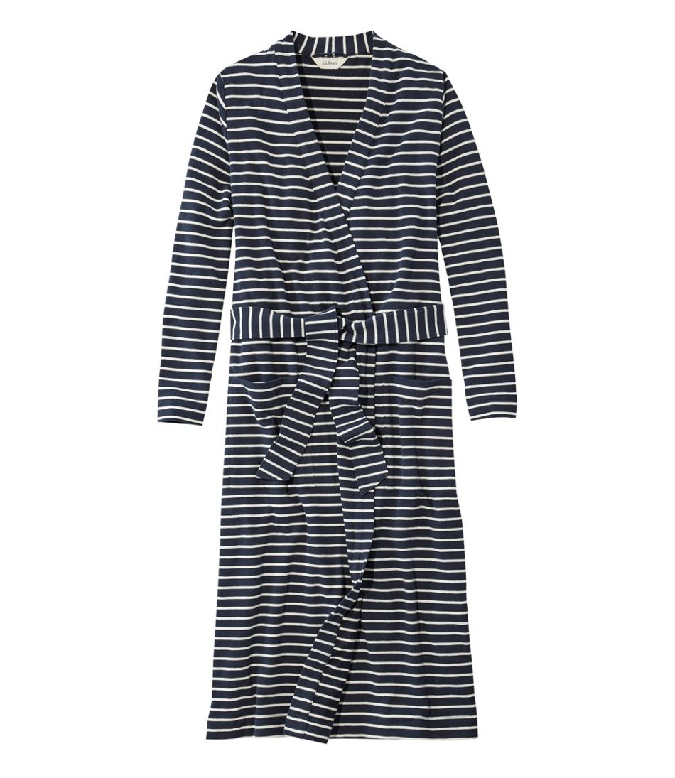 Ultrasoft Sweatshirt Robe, Wrap Stripe