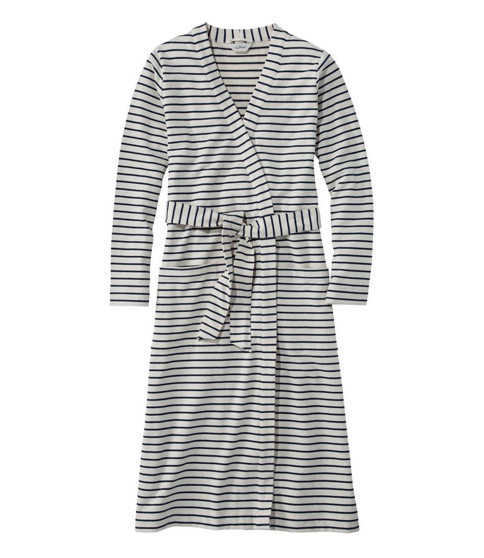 Women's Ultrasoft Sweatshirt Robe, Wrap Stripe
