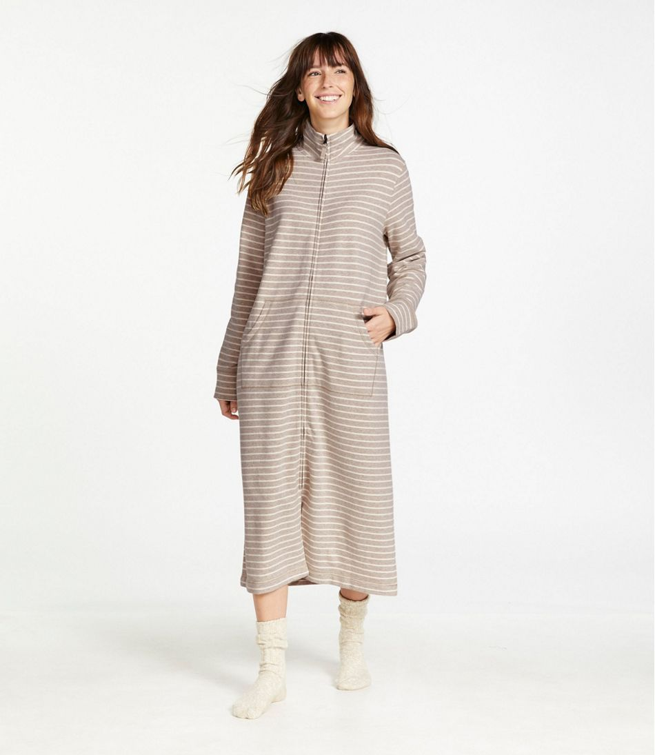 Ultrasoft Sweatshirt Robe, Stripe
