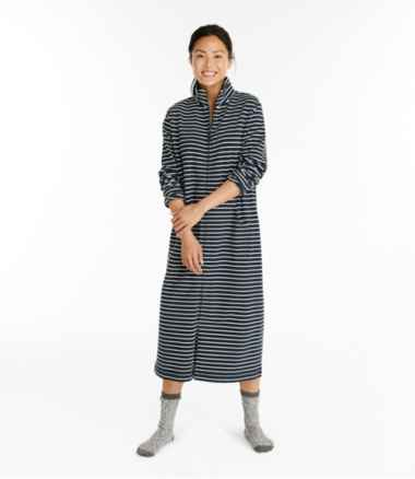 Women's Ultrasoft Sweatshirt Robe, Stripe