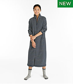 Ultrasoft Sweatshirt Robe, Stripe