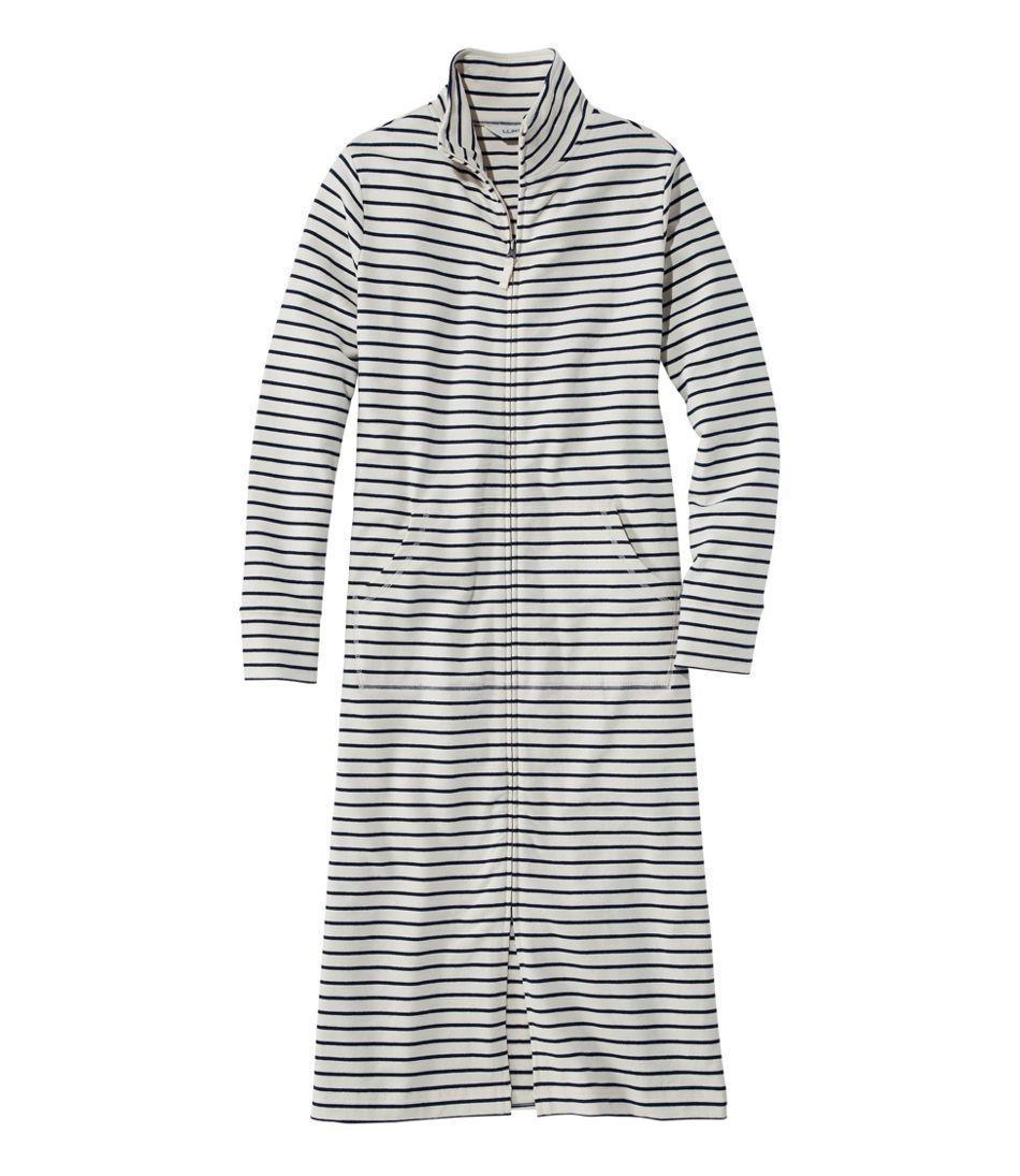 Women's Ultrasoft Sweatshirt Robe, Stripe